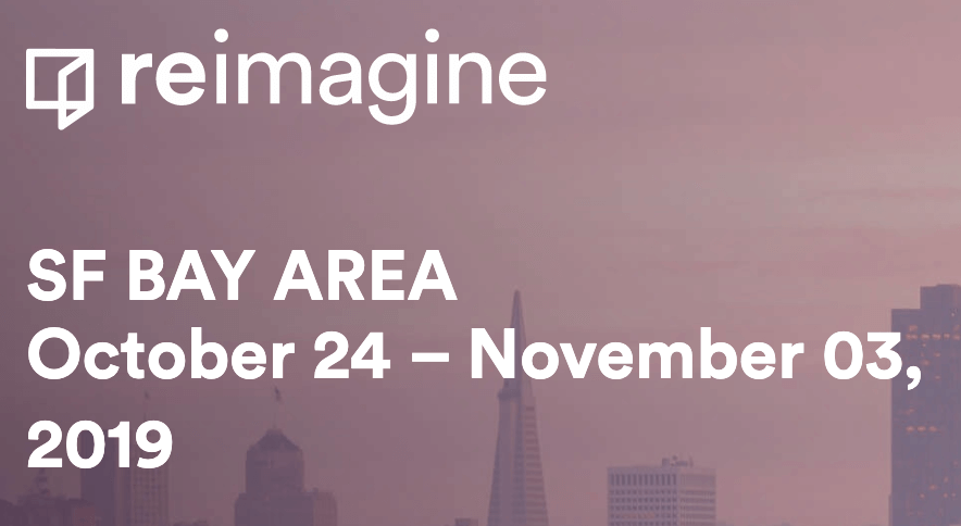 We're hosting four events at the ReImagine festival